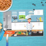 The Boy Chef Personalized Kids Placemat - Give Wink