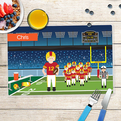 Touchdown Personalized Kids Placemat