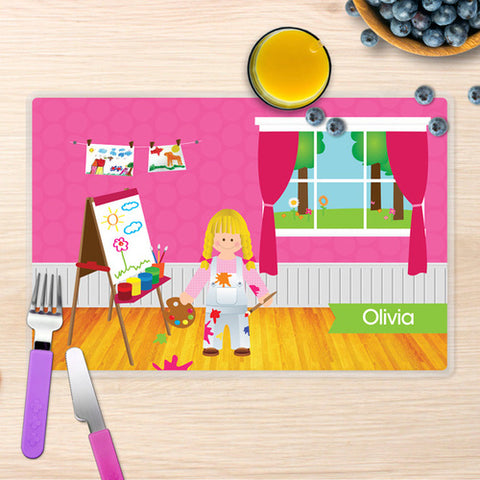 Artist at Work Personalized Kids Placemat