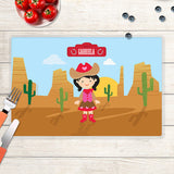 Cowgirl Personalized Kids Placemat - Give Wink