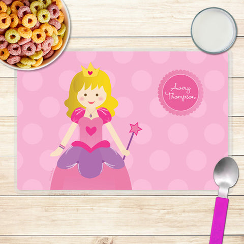 Cute Princess Personalized Kids Placemat