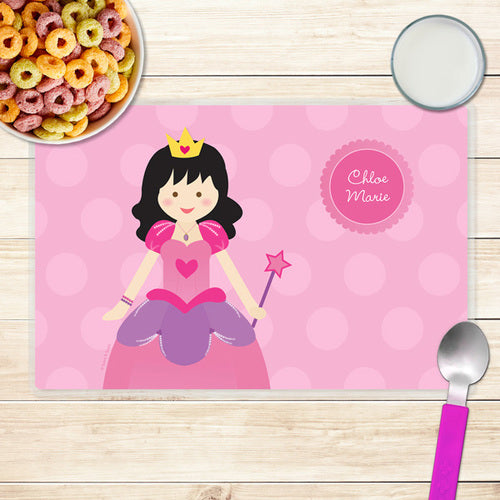 Cute Princess Personalized Kids Placemat - Give Wink