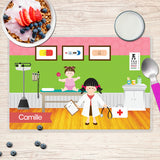 Doctor's Visit Girl Personalized Kids Placemat - Give Wink