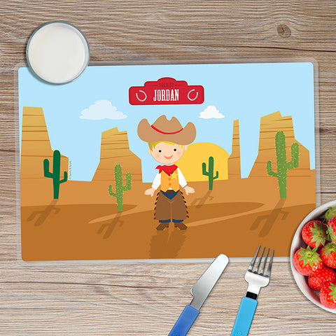 Cowboy Personalized Kids Placemat