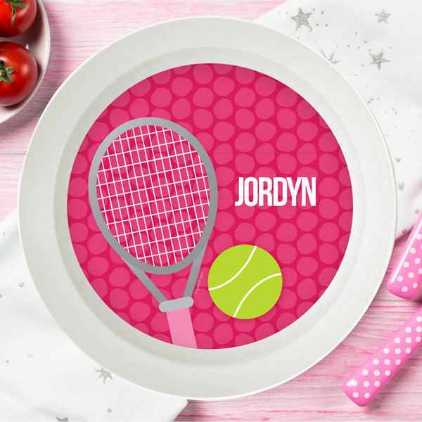 Tennis Fan Girl Personalized Kids Bowl - Give Wink