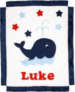 Custom Blanket Whale - Give Wink