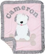 Custom Blanket Puppy Love - Give Wink