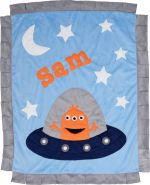 Custom Blanket Spaced Out - Give Wink