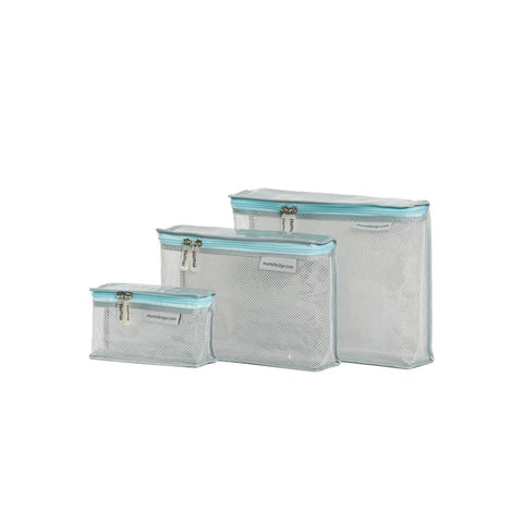 Toiletry Cubes S/3 (Piccolo) - Light Blue