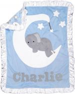 Custom Blanket Goodnight Moon - Give Wink