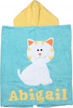 Hooded Custom Towel Ellie Cat - Give Wink