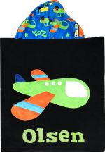 Hooded Custom Towel On The Move Plane - Give Wink