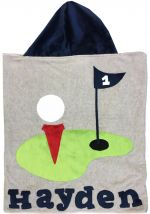 Hooded Custom Towel Tee Time - Give Wink