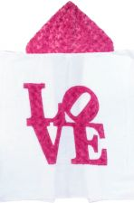 Hooded Custom Towel Love - Give Wink