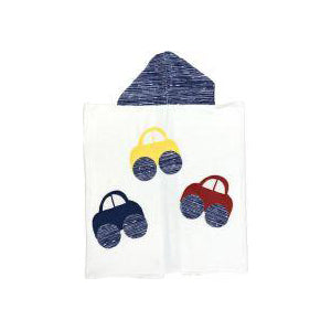 Hooded Custom Towel Scattered Cars - Give Wink
