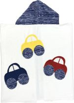 Hooded Custom Towel Scattered Cars