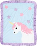 Custom Blanket Magical Unicorn - Give Wink