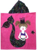 Hooded Custom Towel Mermaid - Give Wink