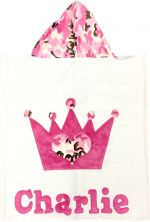 Hooded Custom Towel Princess Crown - Give Wink