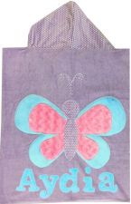 Hooded Custom Towel Fly Fly Butterfly - Give Wink