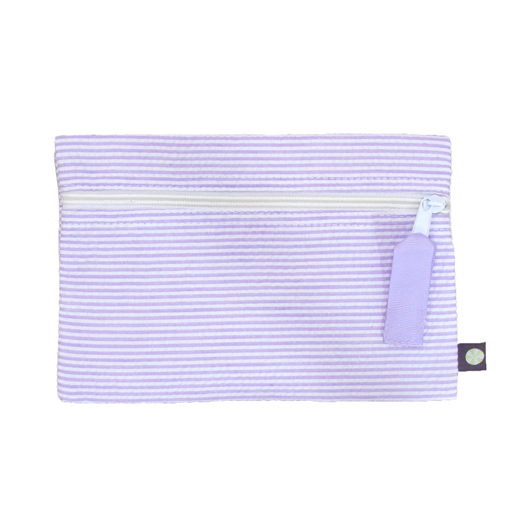 Lilac Seersucker Cosmo Bag - Give Wink
