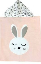 Hooded Custom Towel Snuggle Bunny - Give Wink