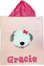 Hooded Custom Towel Puppy Love - Give Wink