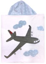 Hooded Custom Towel Happy Landings - Give Wink