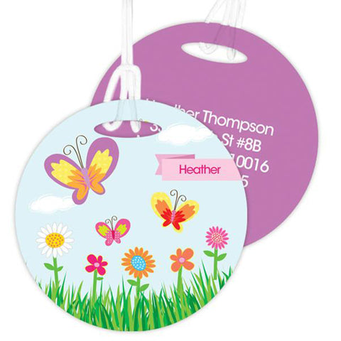 A Butterfly Field Personalized Bag Tag