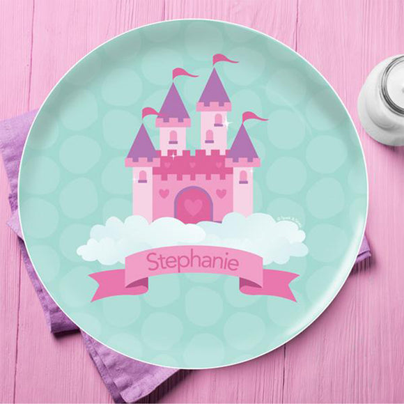 A Castle In The Sky Personalized Kids Plates - Give Wink