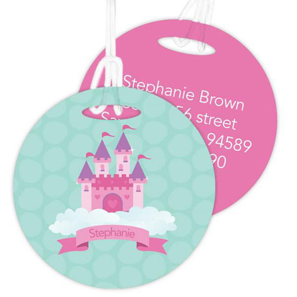 A Castle In The Sky Personalized Bag Tag - Give Wink