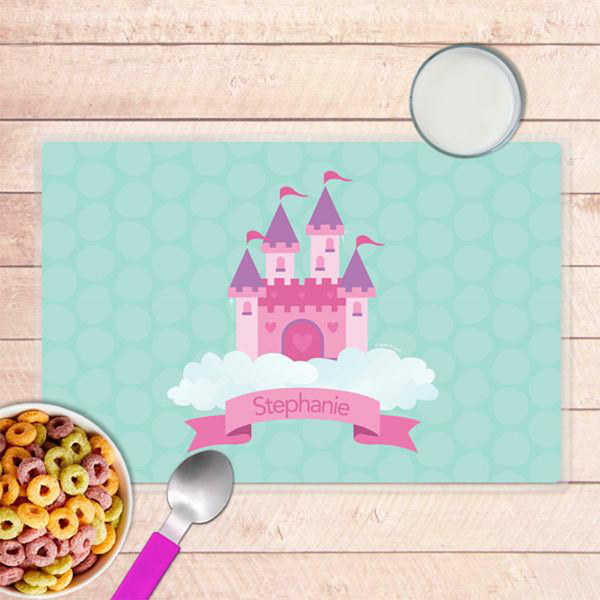 A Castle in the Sky Personalized Kids Placemat - Give Wink