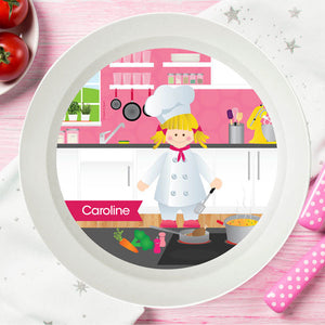 The Girl Chef Personalized Kids Bowl - Give Wink