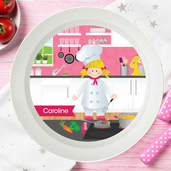 Spark and Spark. The Girl Chef Personalized Kids Bowl. Miami Baby Store. Blonde
