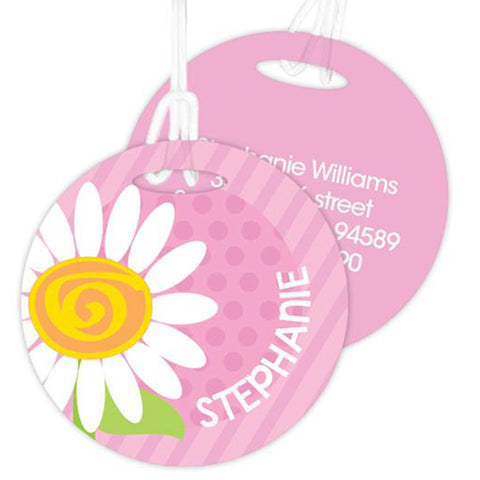 A Daisy For You Personalized Bag Tag