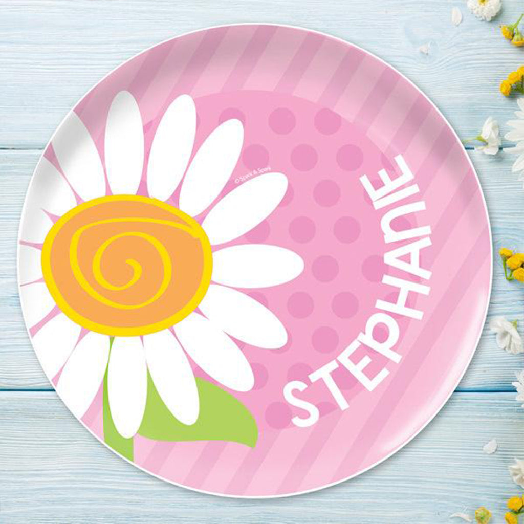 A Daisy For You Personalized Kids Plates - Give Wink