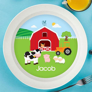 A Day in the Farm Personalized Kids Bowl - Give Wink