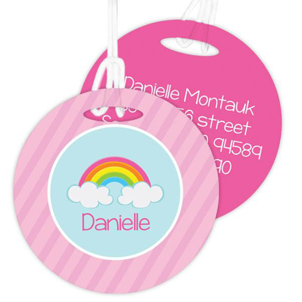 A Rainbow In The Sky Personalized Bag Tag - Give Wink