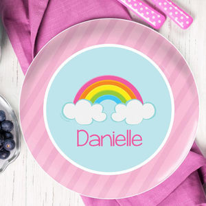 A Rainbow In The Sky Personalized Kids Plates - Give Wink