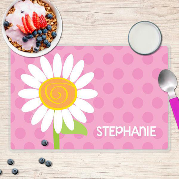 A Daisy for You Personalized Kids Placemat - Give Wink