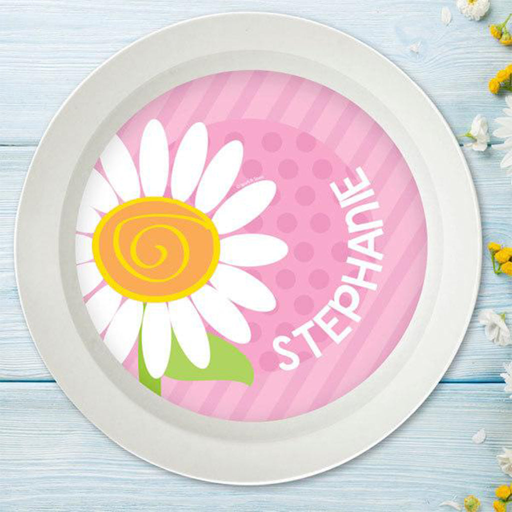 A Daisy for You Personalized Kids Bowl - Give Wink