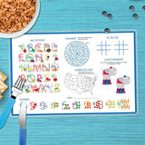 A Linen Blue Letter Personalized Kids Placemat - Give Wink