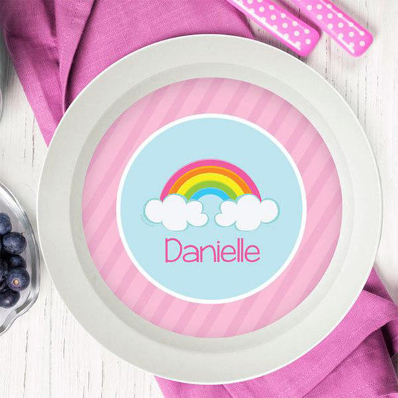 A Rainbow in the Sky Personalized Kids Bowl - Give Wink