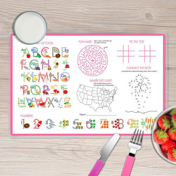 A Rainbow in the Sky Personalized Kids Placemat - Give Wink
