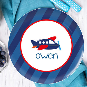 Airplane Ride Personalized Kids Plates - Give Wink