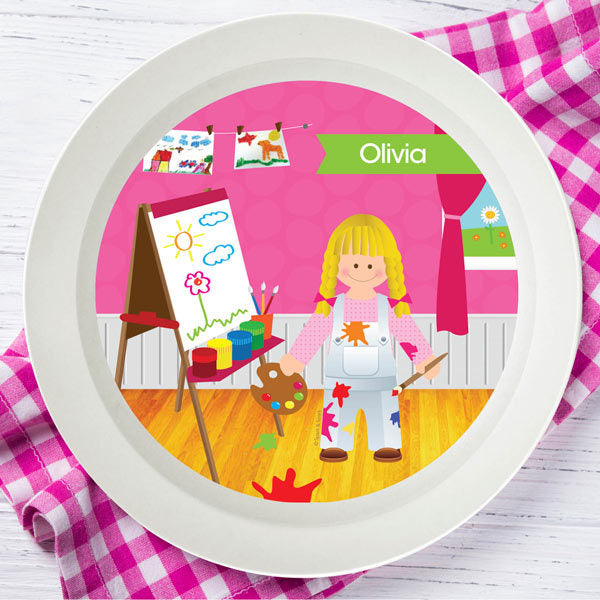 Artist at Work Personalized Kids Bowl - Give Wink