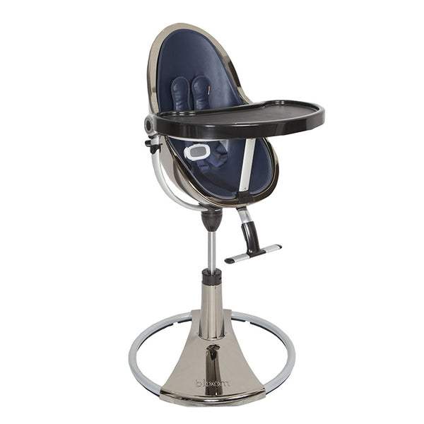 Fresco Chrome - Bloom Baby High Chair Miami Baby Store - Mercury / Navy Blue