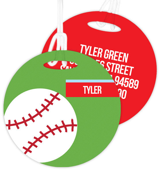 Baseball Fan Personalized Bag Tag - Give Wink
