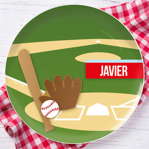 Baseball Fan Personalized Kids Plates - Give Wink