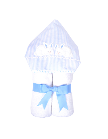 Bunny Hooded Towel - Miami Baby Store - blue